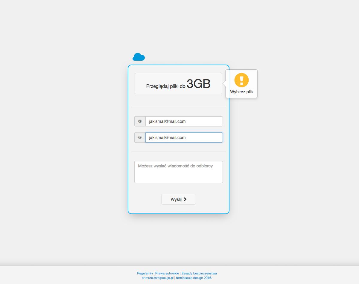 Chmura plików - wersja 1.0